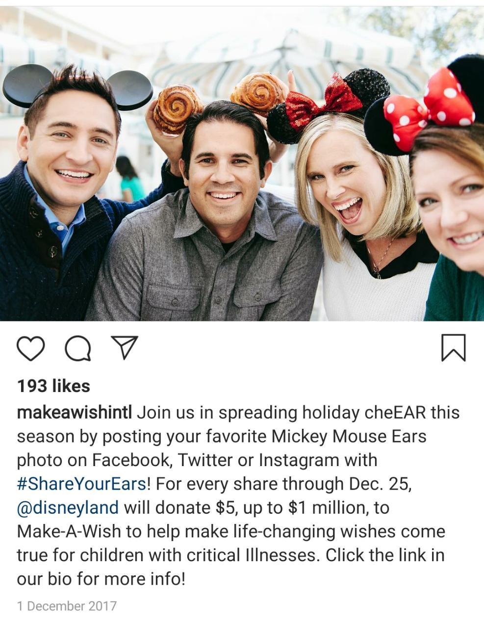 Disney's #ShareYourEars Campaign- use of social media hashtags