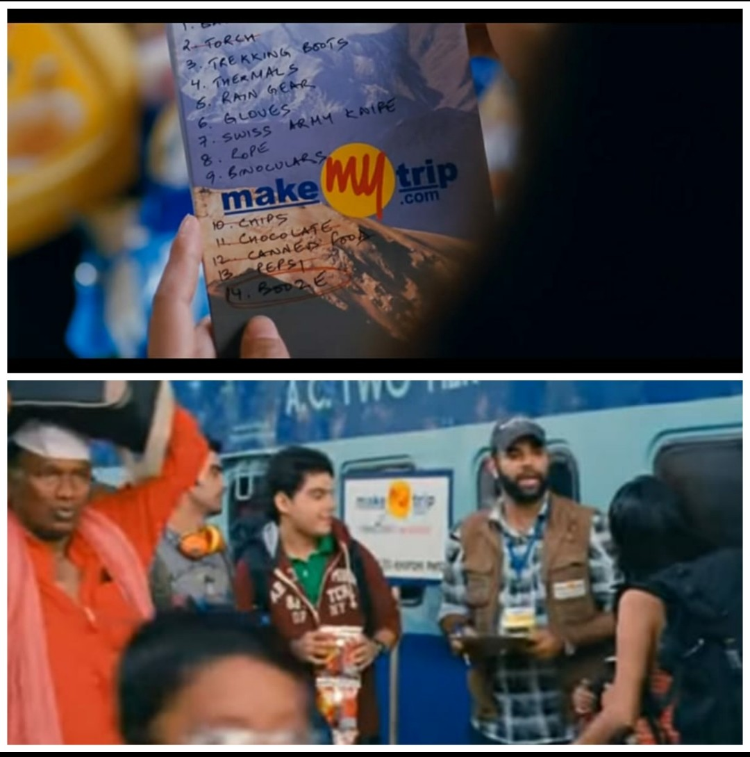 Product Placement of MMT in Yeh Jawani Hai Deewani