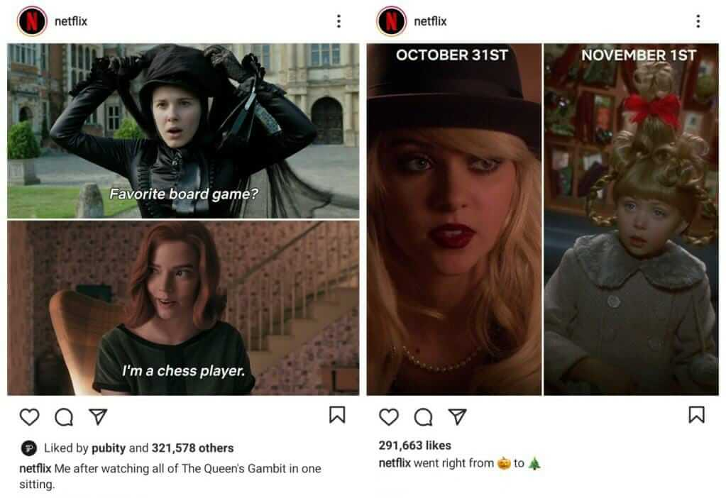 Netflix using Meme Marketing Strategy