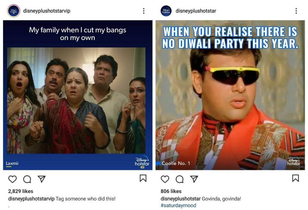 Hotstar using Meme Marketing Strategy