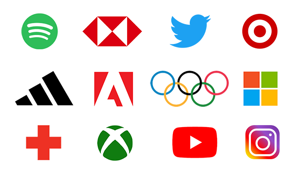 Shapes and letter form of brand logo