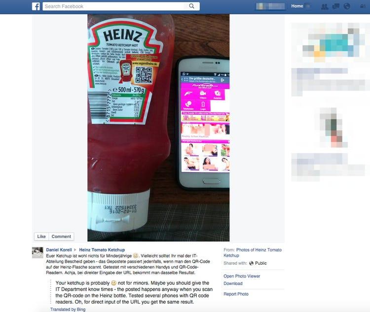 Heinz QR Code Blunder