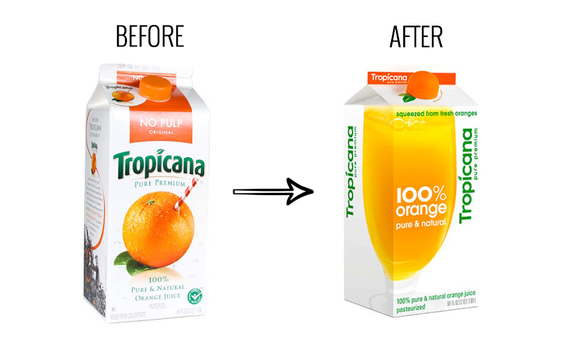 Tropicana New packaging marketing blunder