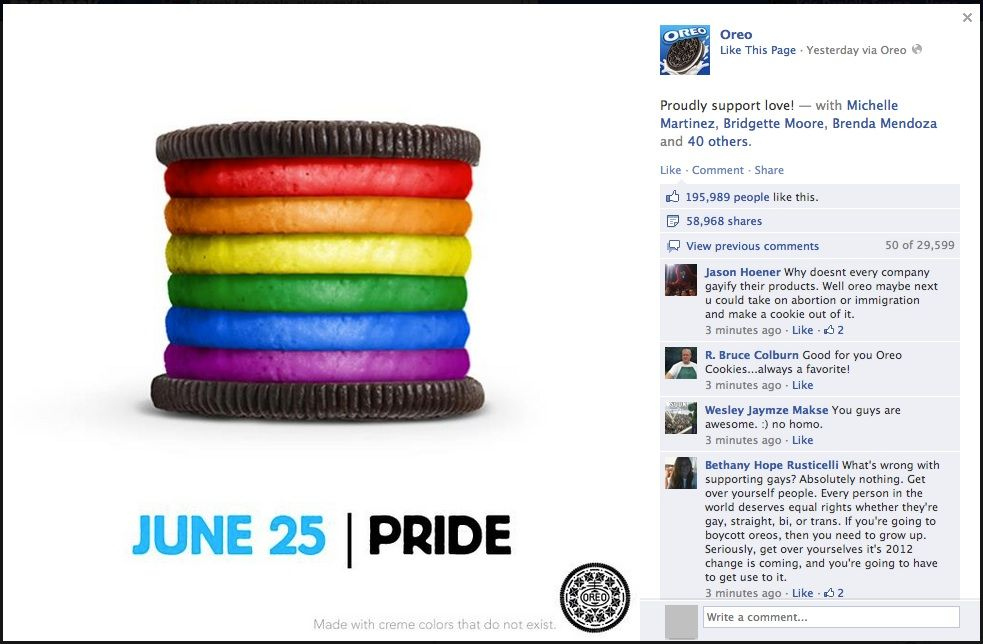 oreo ad supporting the LGBTQ community- controversial marketing