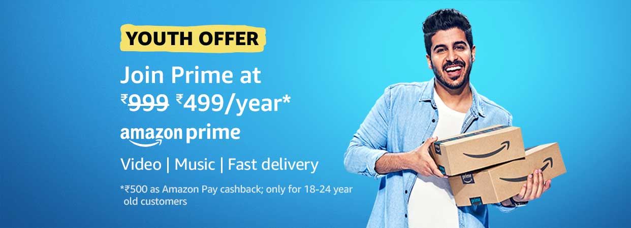 """Amazon latest """"Youth Offer,"""""""
