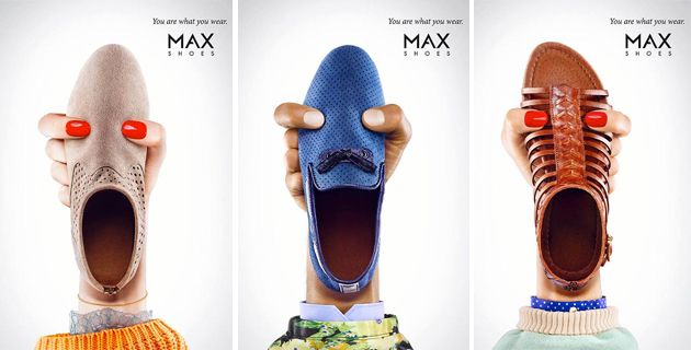Max Shoes hidden message in visual ad
