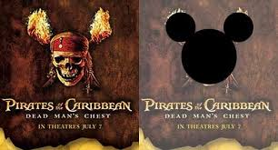 hidden message in poster of Disney's Pirates of the Caribbean