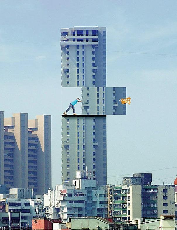 Anando Milk ad on Mumbai's buildings- Guerrilla Marketing