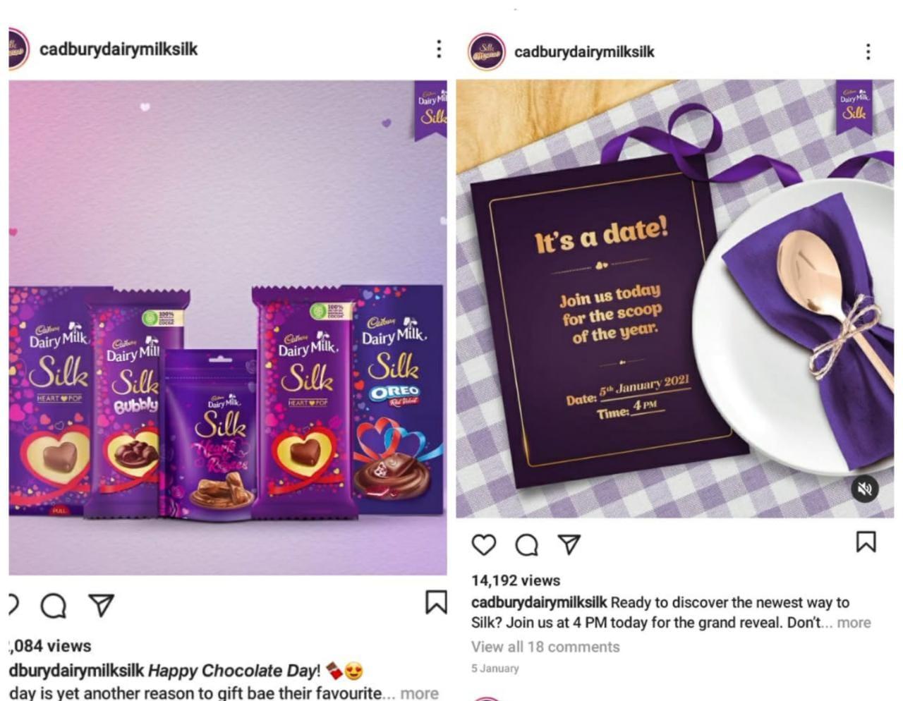 Cadbury Dairy Milk Silk using social media marketing