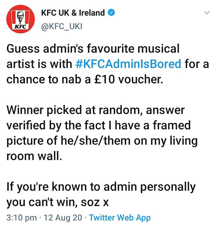 KFC organized an innovative social media marketing campaign on Twitter.