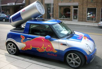 Guerilla marketing strategy adopted as a major marketing strategy of red bull