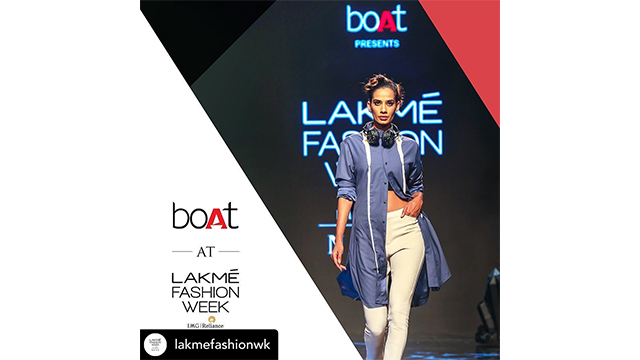 Boat collab with Lakme fashion week.