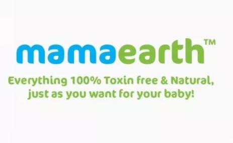 Logo and tagline of Mamaearth