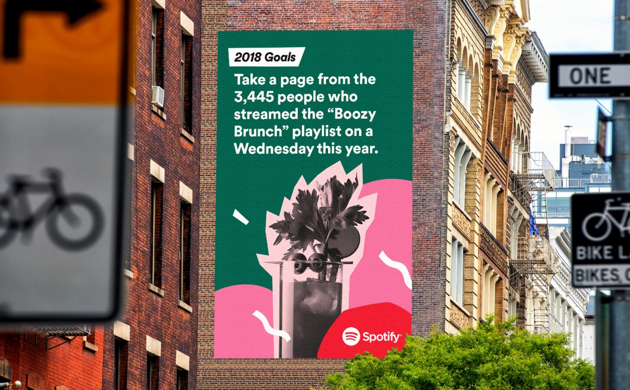 2018Goals-Spotify marketing hashtag campaign
