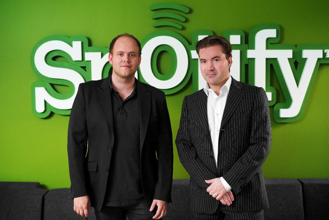 Daniel Ek, with Martin Lorentzon (Co-Founder of Spotify)